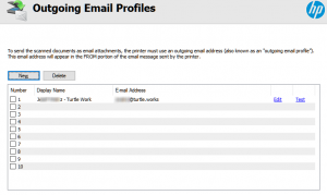HP Email Profiles
